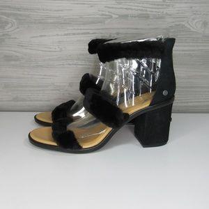 UGG Del Rey Women's Fluff Heels Shoes NEW